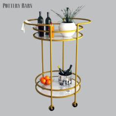 Pottery barn Tristan Bar Cart 3D 3D Model
