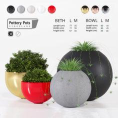 3D Pottery Pots four 3D Model