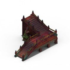 Leifeng tower – wooden staircase 03 3D Model