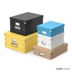 Office storage boxes 3D model 3D Model