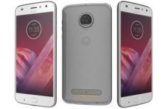Motorola Moto Z2 Play Nimbus Blue 3D Model
