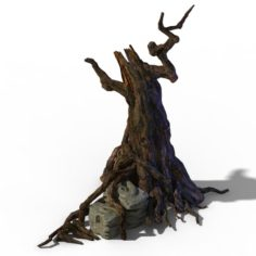 Zhongnanshan – beautiful personality tree root 02 3D Model