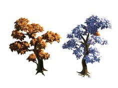 Mount Cliff – Yellow Tree 3D Model