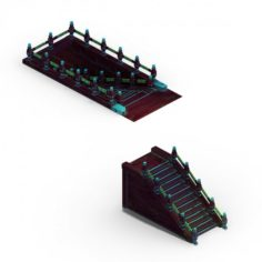 Pagoda – Stairs 09 3D Model