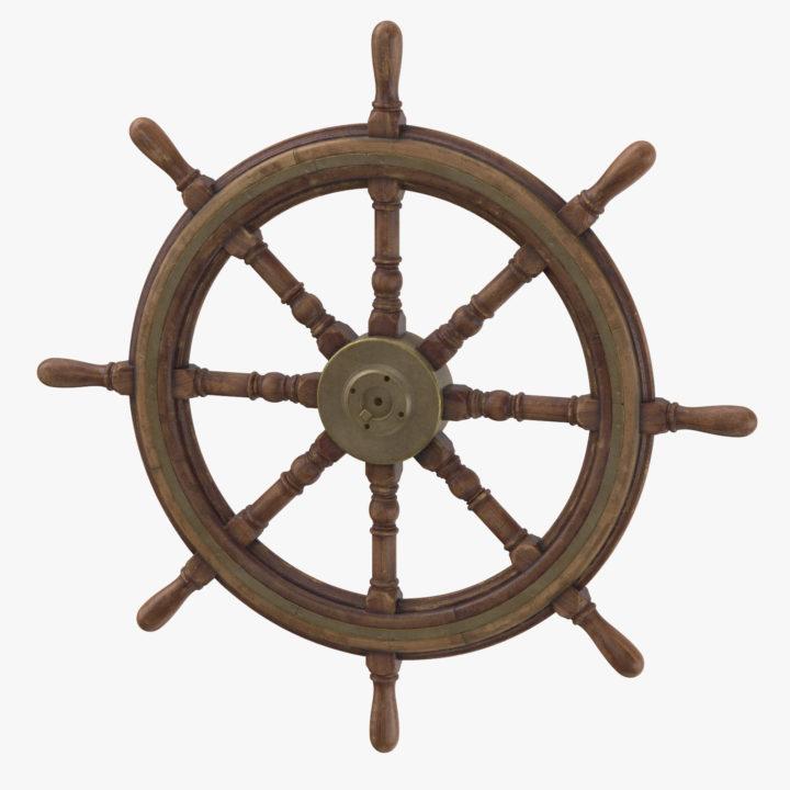 Old Ship Wheel 3D Model