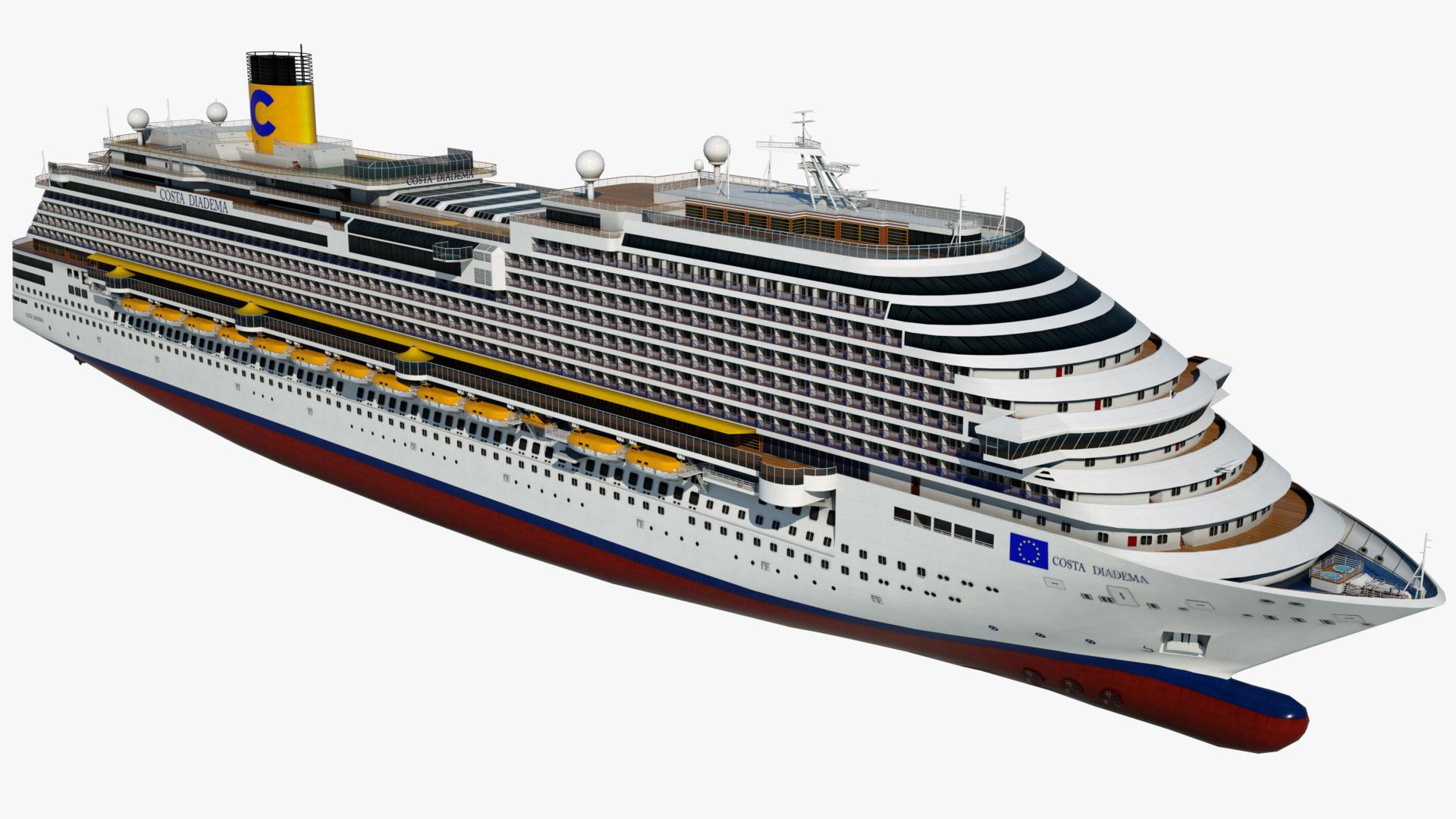 Cruise Ship Costa Diadema 3d Model 3dhunt Co