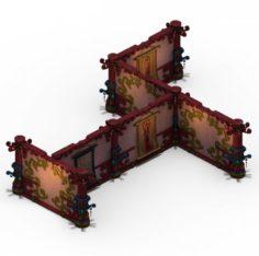 Lek Pagoda – Second floor partitions 3D Model