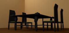 ModernDinnerRoomSet 3D Model