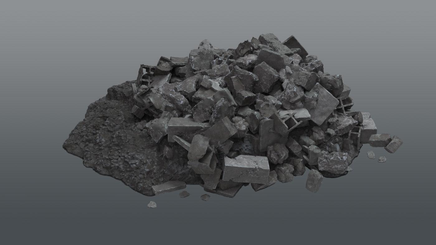 Ruin Debris Kit - Rubble Pile A 3d Model