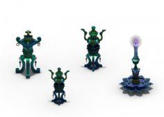 Pagoda – Censer – Candlestick 3D Model
