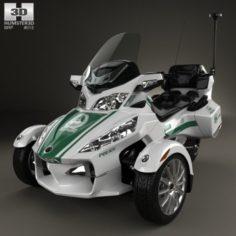 BRP Can-Am Spyder Police Dubai 2014 3D Model