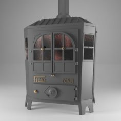 Filfer wood stove 3D Model