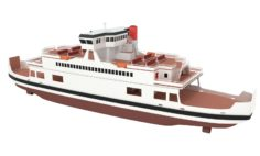 Ferry 3D model 3D Model