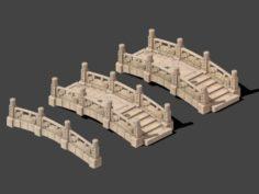 Cartoon City – Stone Bridge 19 3D Model