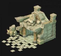 Maya – Underground City Entrance 01 3D Model