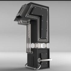 3D Typography 3D model Free 3D Model