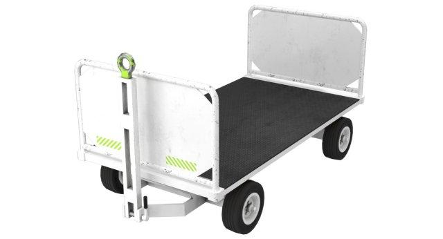 Baggage Cart 1 Lowpoly 3D Model