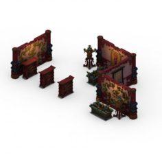 Lei Fengta – partition – debris 3D Model