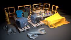 Storage Generic Prop Collection – Game ready 3D Model