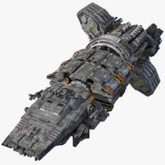 Modular Spaceship 3D Model