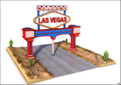 Welcome Road Poster 3D Model