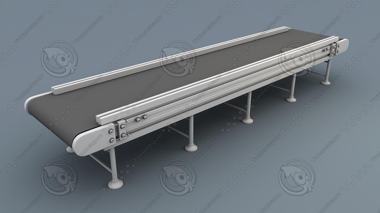 Conveyor Belt 3d 3d Model 3dhunt Co