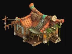 Small apricot – wild house 3D Model