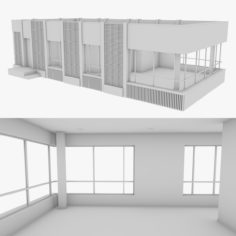 Modern House 6 Bare Bones Version 3D Model