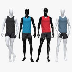 3D Male running suit model 3D Model
