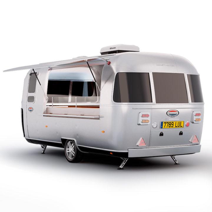 Airstream food truck 3D Model