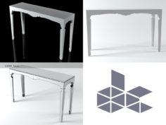 Dessouschic Console Table 7435 3D Model