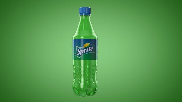 3D Bottle Sprite 3D Model - 3DHunt co