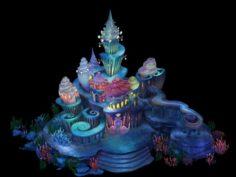 Underwater Castle 02 3D Model