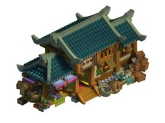 Ancient capital building – debris shop 3D Model