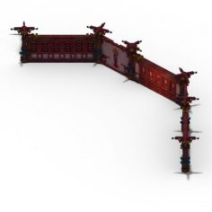 Lei Fengta – the third floor wall 3D Model