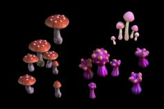 Game – Strange Mushroom Collection 3D Model