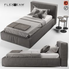 FLEXTEAM SLIM ONE bed single 3D Model