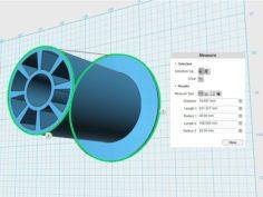 Omnistand 53mm spool holder with large 80mm flange 3D Print Model
