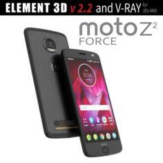 Moto Z2 Force BLACK model 3D Model
