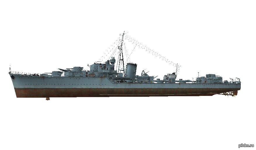 British J Class Destroyer 3d Model 3dhunt Co