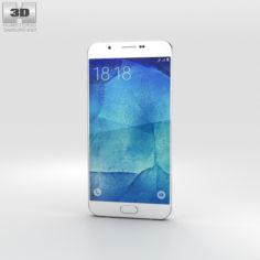 Samsung Galaxy A8 Pearl White 3D Model