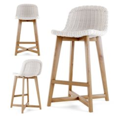 S2DIO – Wood and resin high chair NORWAY 3D Model