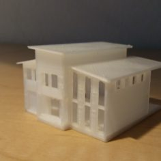 Z-Scale (1:220) Country Modern House 3 3D Print Model