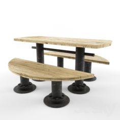 Moony table                                      Free 3D Model