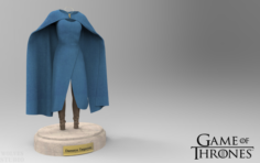 Game of Thrones Daenerys Targaryen Clothes 3D Model