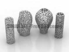 Decor vases abstract 3D Collection