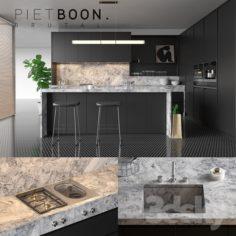 Kitchen Piet Boon BRUTAL (vray GGX, corona PBR)                                      3D Model