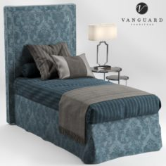 VANGUARD Furniture HILLARY single bed 3D Model