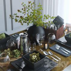 Table setting 18                                      3D Model