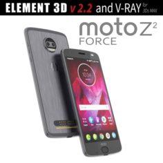 Moto Z2 Force GRAY model 3D Model